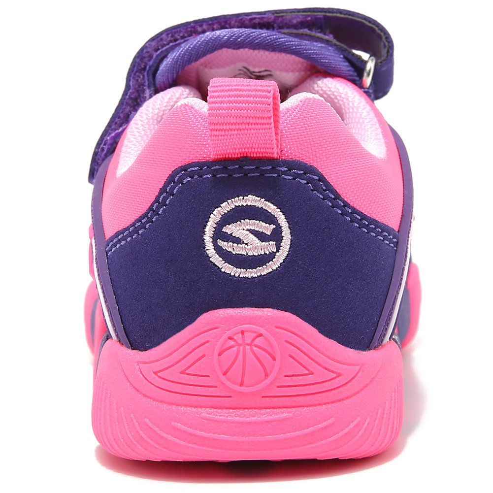 BODATU Boy's Girl's Sneakers Comfortable Running Shoes(Toddler/Little Kid/Big Kid) Fushia/Purple by BODATU (Image #3)