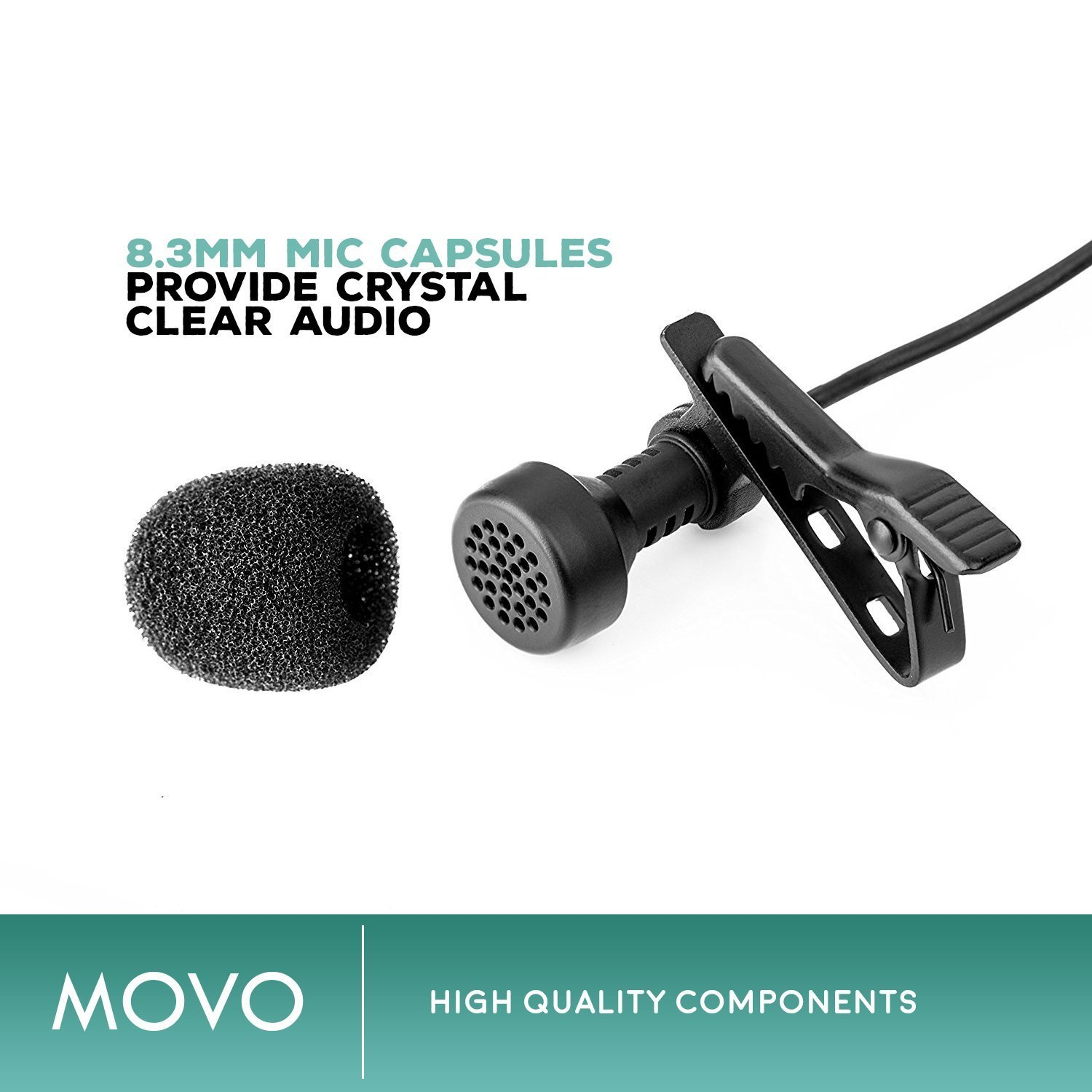 Zoom H4n PRO 4-Channel Handy Recorder Bundle with Movo Pro Grade Omnidirectional and Cardioid XLR Lavalier Microphones by Movo (Image #4)