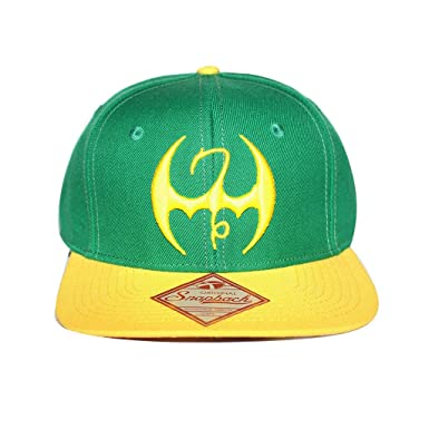 5f3ad1ccabc Bioworld Men s Licensed Iron Fist Sublimated Under Brim Snapback Hat O S  Green Yellow