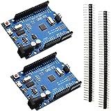 HiLetgo 2個セット UNO R3 ATMEGA328P-16AU CH340G マイクロUSB Arduinoと互換 [並行輸入品]