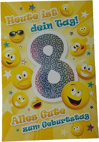 Auguri Buon Compleanno 8 Anni.Biglietto Di Auguri Di Buon Compleanno 8 Anni Smile