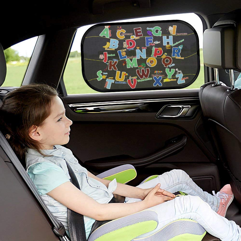 iZoeL Parasole per Auto per Bambini con Lettere e Numeri