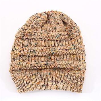 03bbcb772c5 HOKUGA  Fashion Ponytail Beanie Crochet Knit Caps Skullies Beanies Warm Cap  Female Knitted Stylish Hat