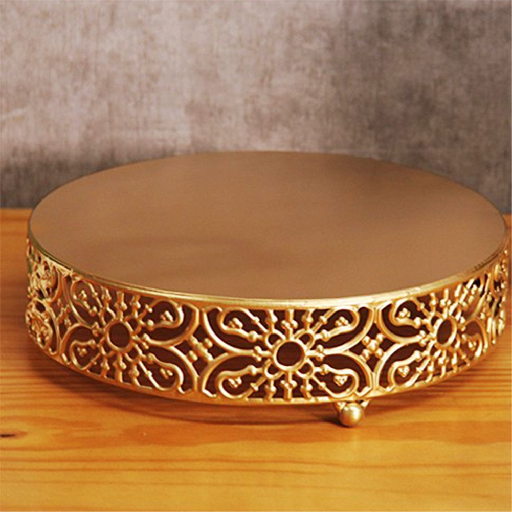 12 Pcs/set Golden Cake Stands and Pastry Trays,Metal Birdcage Cupcake Dessert Pedestal/Display/Plate/Stands and Trays with Crystals and Beads,Party Birthday Party Wedding Decorations for Tables by Gooday (Image #5)