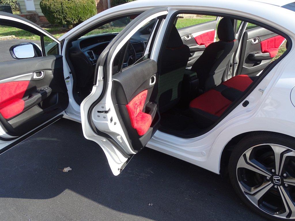 Amazon.com: RedlineGoods Honda Civic 2012-15 cubiertas de insercion y apoyabrazos de puertas (4-puertas, traseras) de: Automotive