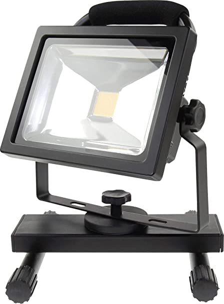 LED Flutlicht Baustrahler Akku 10W//20W Neutralweiss RGB IMPLOTEX
