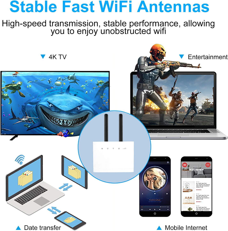 Aigital SMA Antena 10dBI de Alto Rendimiento 2 PCS 4G LTE Amplificador de señal de módem Receptor de Red Receptor de Alto Rango para Puntos de Acceso ...