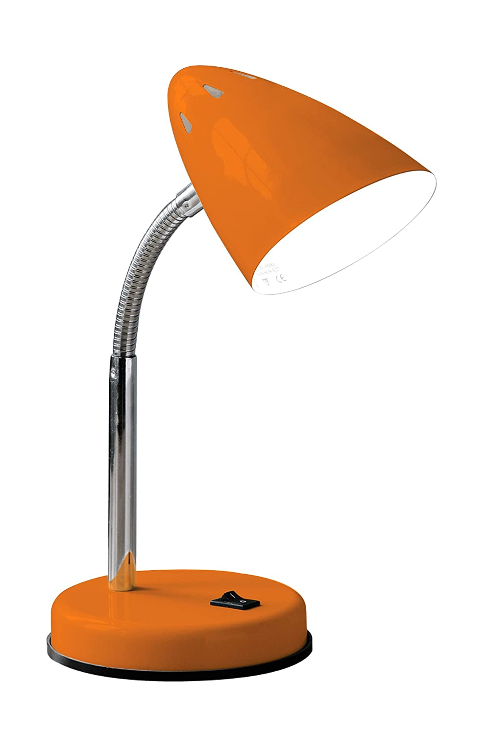 Premier Housewares Flexi Desk Lamp - Orange Gloss: Amazon.co.uk ...