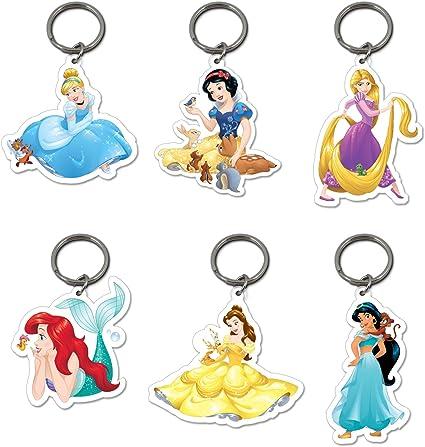 6 x oficial de Disney Princesas Llaveros Belle Blancanieves Ariel ...