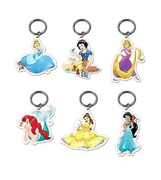 6 x oficial de Disney Princesas Llaveros Belle Blancanieves ...