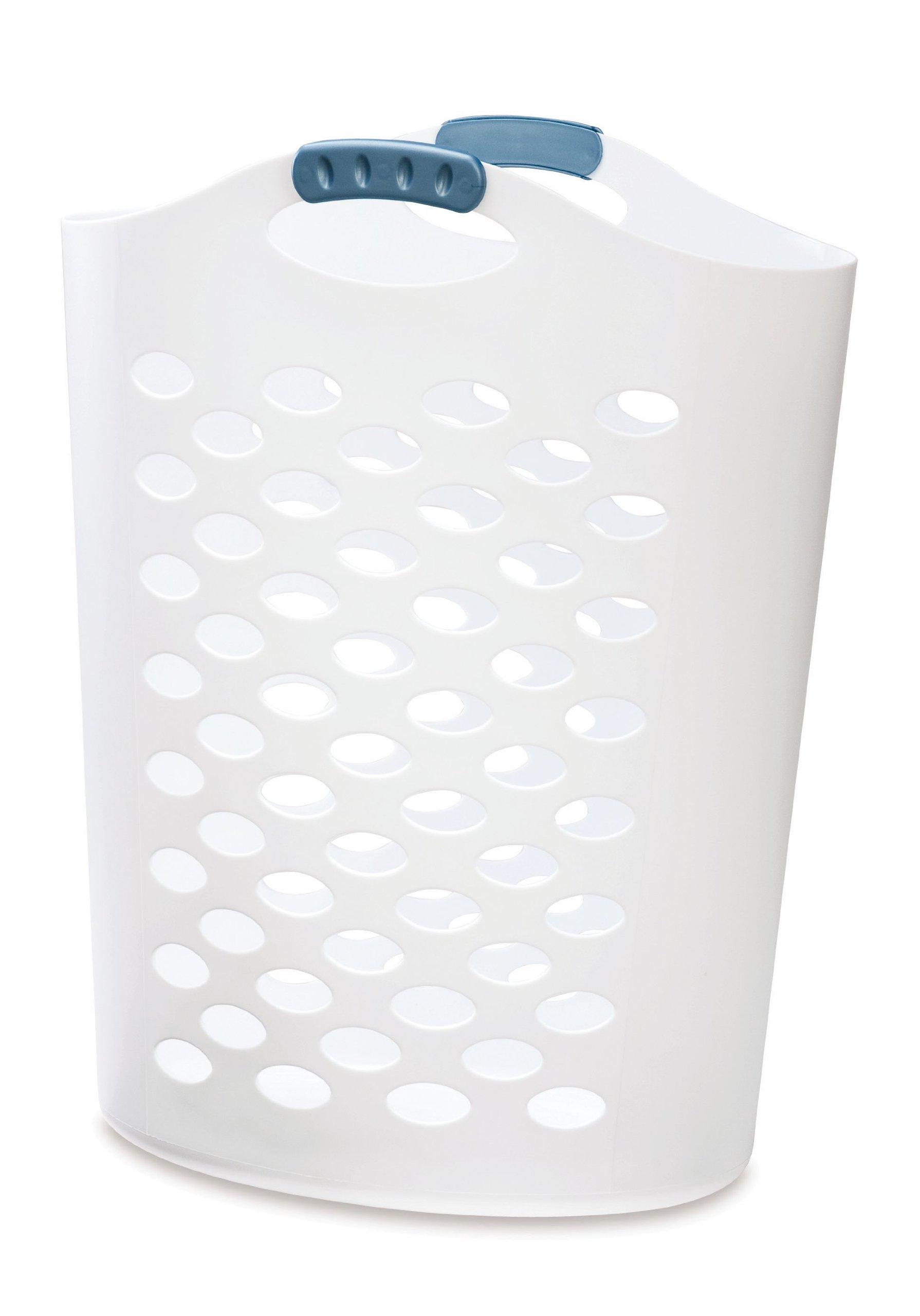 Rubbermaid Flex 'n Carry Laundry Hamper, 2.2-Bushel, White (FG260004WHTRB)