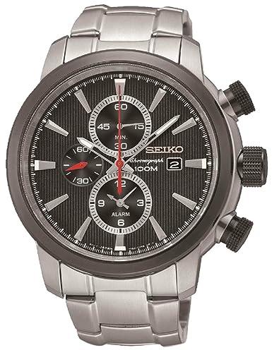 Amazon.com: Seiko Neo Sports snaf47p1 Reloj Hombre Negro ...