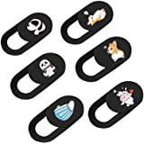 Webcam Cover Slide for Laptop, Cute 6 Pack 0.027in Ultra Thin Camera Blocker Protect Privacy Sliding Design for Computer/Lapt