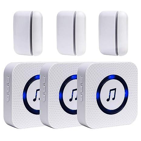 Amazon.com: Sanjie - Alarma de entrada de puerta inalámbrica ...