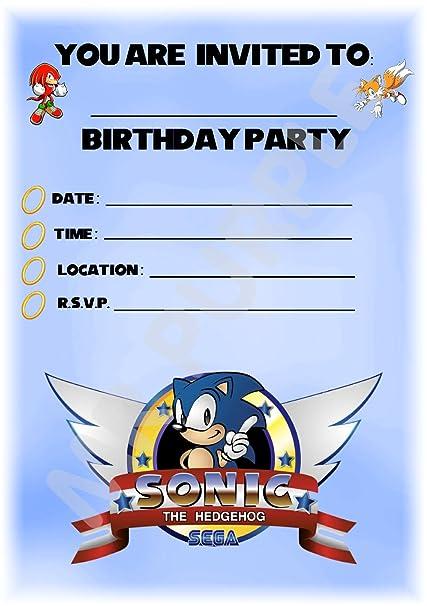 Sonic El Erizo Cumpleaños Fiesta Invita A Diseño De