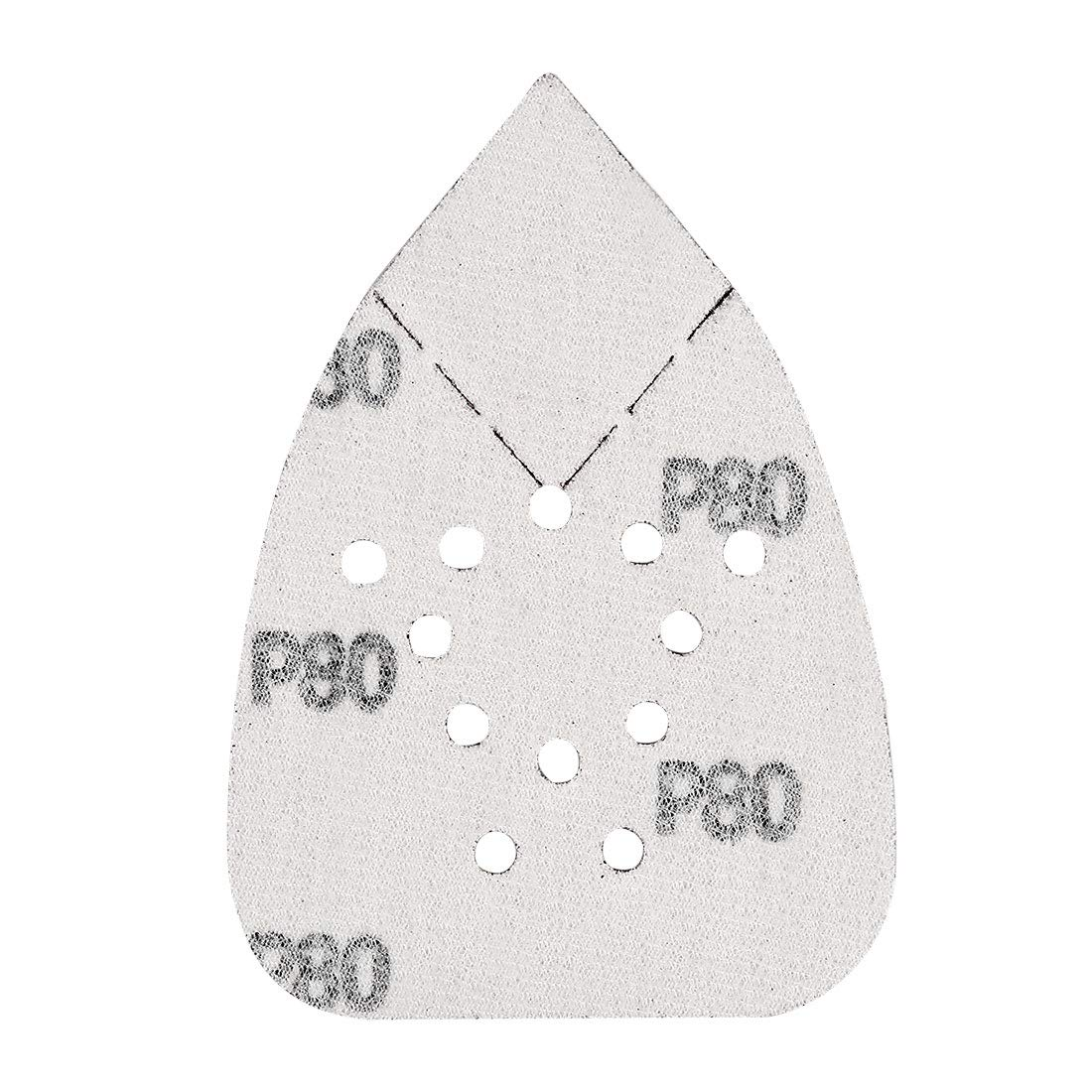 uxcell/® 24pcs 140x95mm Sanding Discs Sander Pads Assorted 40 80 120 240 Grits 12 Hole Sandpaper for Random Orbital Sander