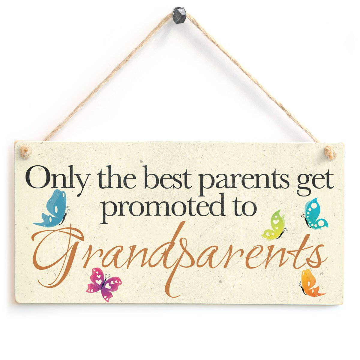 the best parents get promoted to grandparents gift love heart only the best parents get promoted to grandparents wooden sign gift