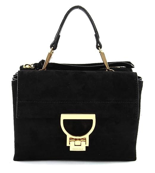 6f3b71416e COCCINELLE Arlettis Suede Small Handbag Noir: Amazon.co.uk: Shoes & Bags