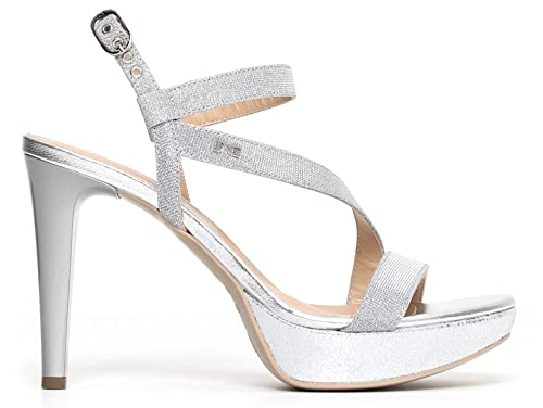 Sandali NeroGiardini P806070DE 705 6070 scarpe eleganti in pelle ghiaccio