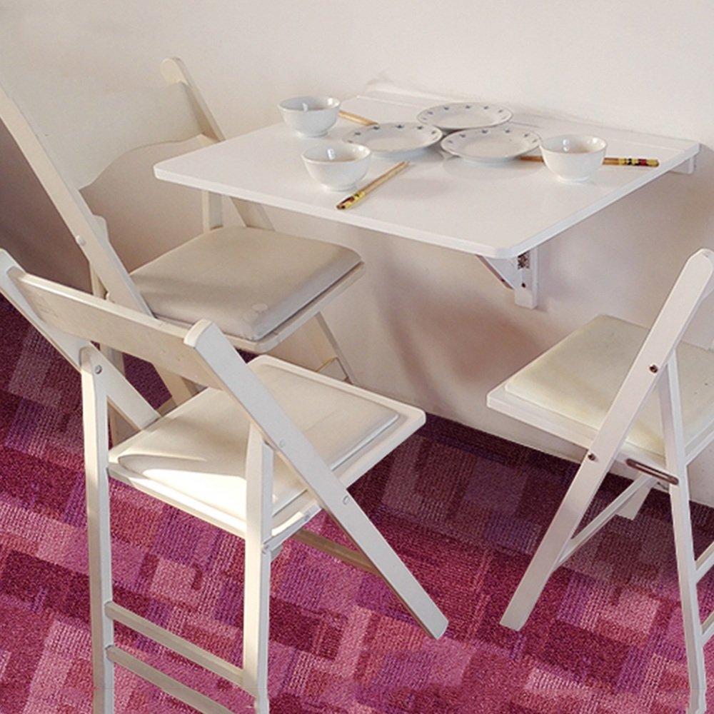 ZZHF 折りたたみテーブル無垢材ダイニングテーブル壁掛け壁掛けデスクコンピュータデスク2色あり75 * 60cm デスク ( 色 : 白 ) B078TXR898 白 白