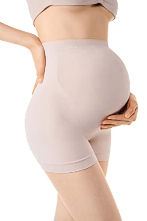 3dd00a2d0fbad MD Maternity Underwear Activewear Pregnancy Shapewear Panties Belly Support  Mid-Thigh Pettipant  Amazon.co.uk  Clothing