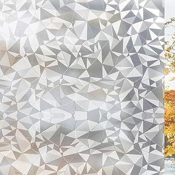 Fancy-fix statische selbstklebende Fensterfolie Dekorfolie Milchglasfolie f/ür Privatsph/äre und Sichtschutz 40cm X 150cm