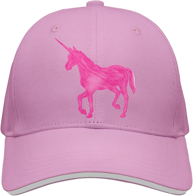 Kr.JAIEN Baseball Cap for Men and Women Rainbow Unicorn Pink Horse Cool Peaked Cap for Boy and Girls