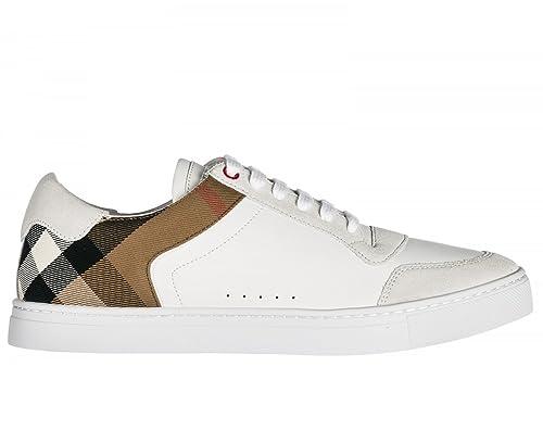 Tessuto Burberry Scarpe Modello 4054022 Uomo In Sneakers E Pelle 8PwO0Xkn