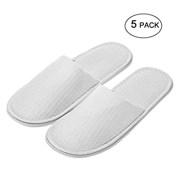 07150d2c0b1d Amazon.com   echoapple Waffle Closed Toe White Slippers-Two Size Fit Most  Men and Women for Spa