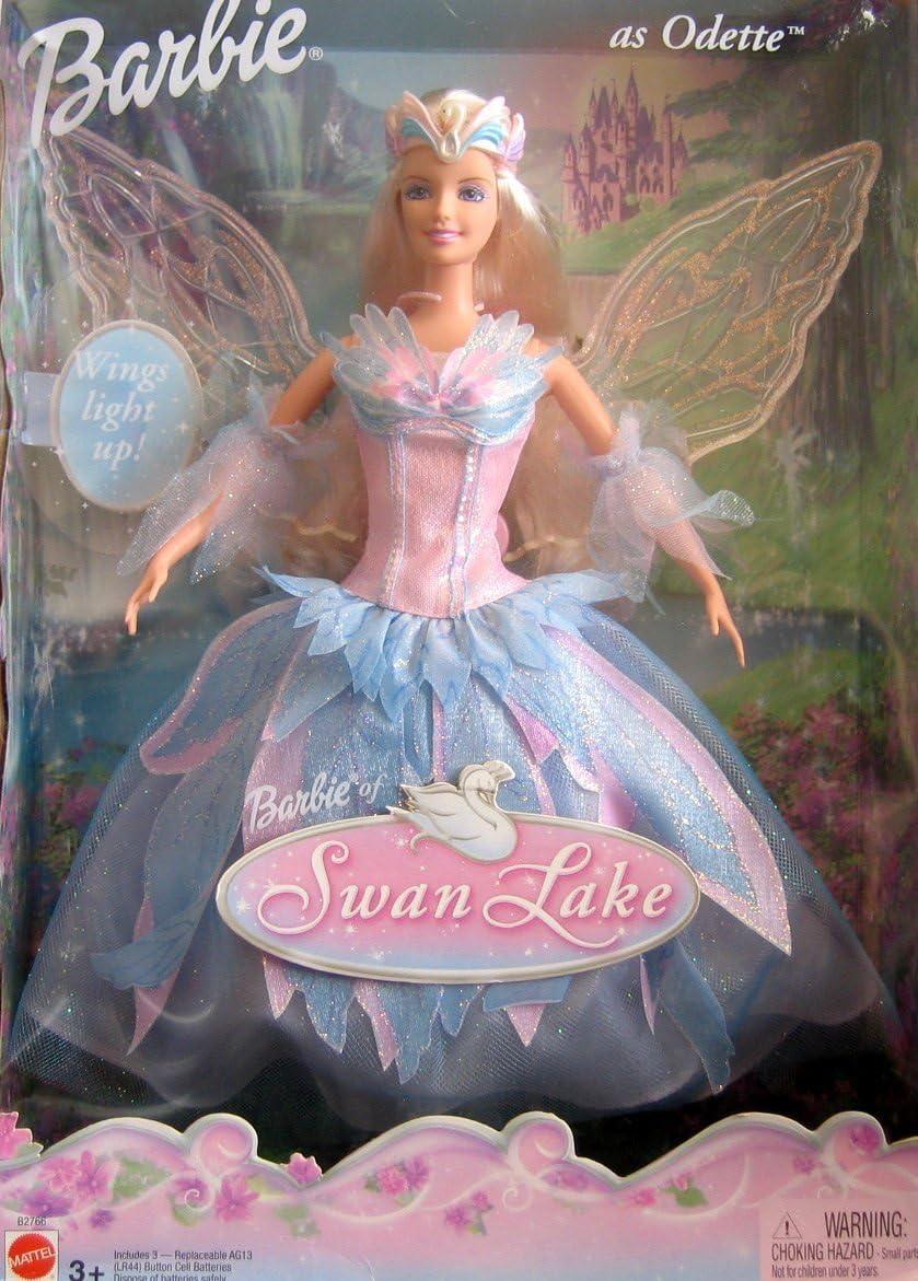 Swan Lake Barbie Doll as ODETTE w Light Up Wings (2003): Amazon.it