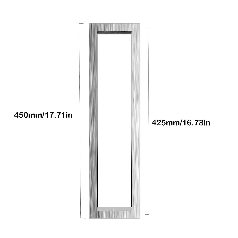Long Door Pull 71in Modern Square Entryway Handle Entrance Push BLACK