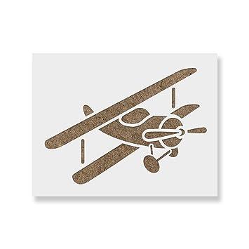 Amazon.de: Flugzeug Schablone für Wände und Basteln ...