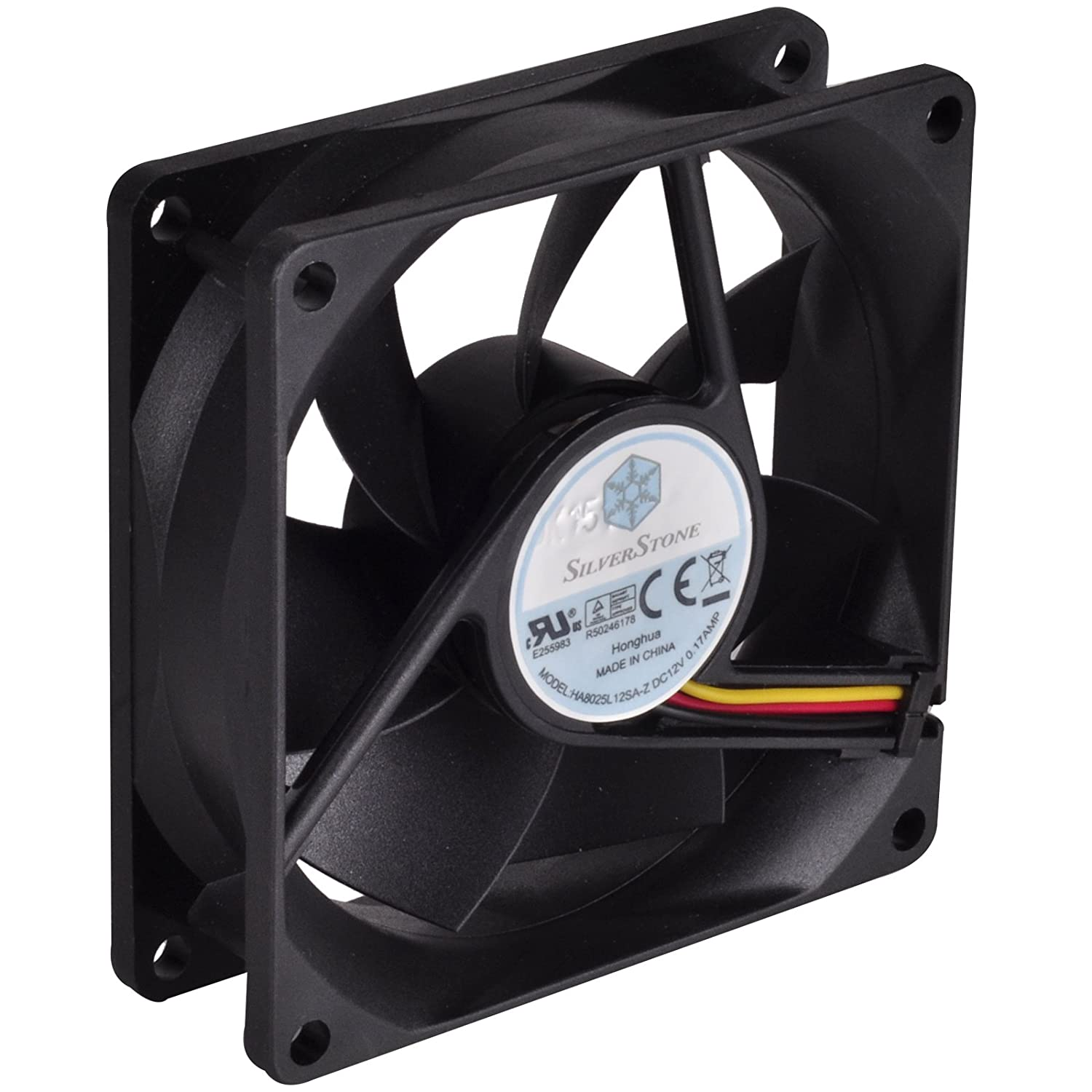9 pale High Airflow SilverStone SST-FN121-P-GL Low Noise Ventola regolabile serie FN 120mm 4x LED Verdi