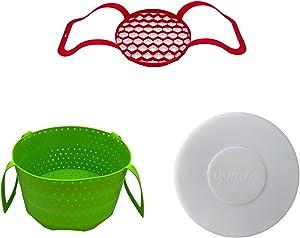 Yumvio Essential Silicone Accessories for 10 Quart Instant Pot Duo Nova Pressure Cooker | Extra-Large | 3 Piece Bundle | Dishwasher Safe