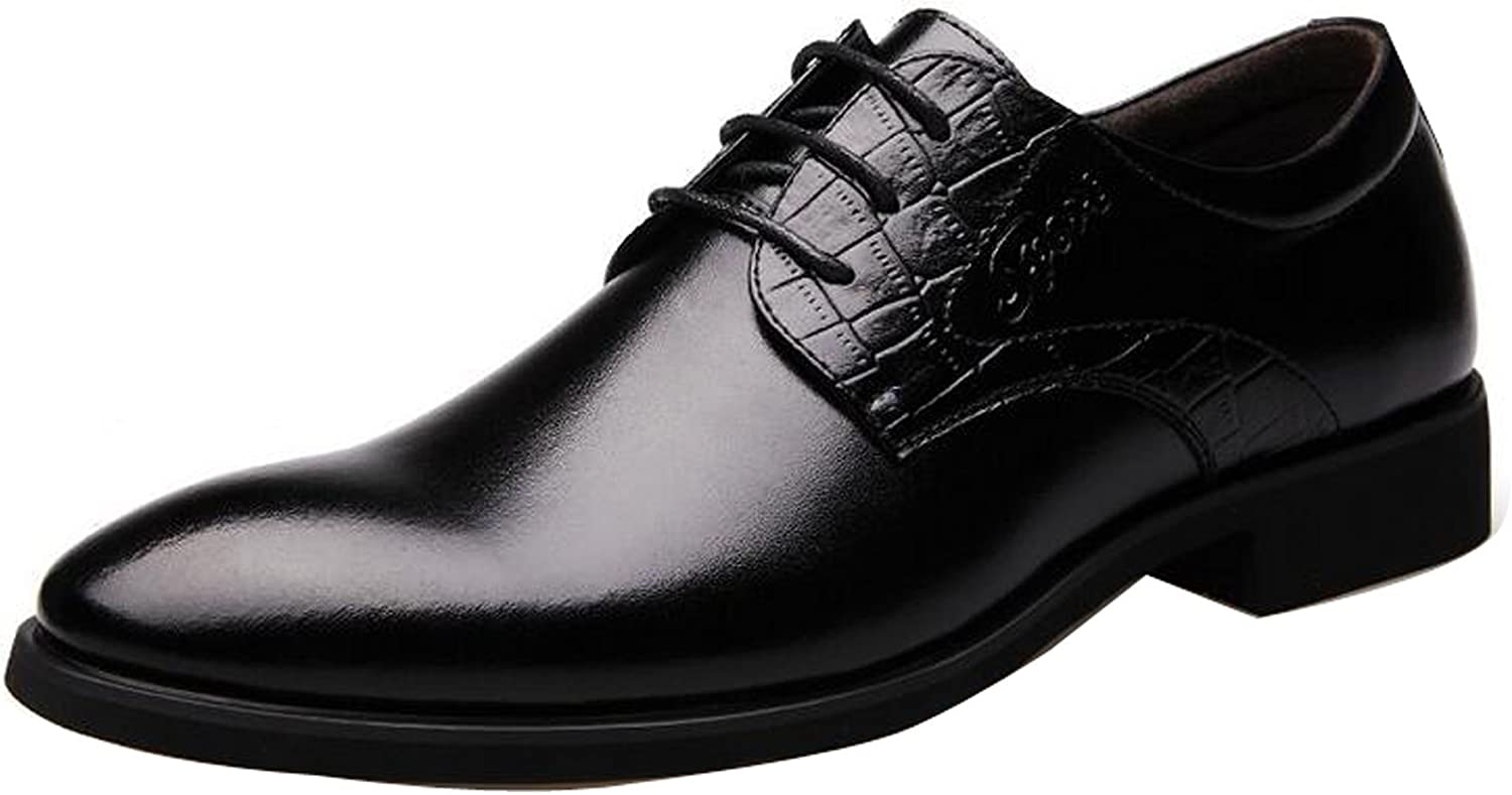 Mens Oxfords Leather Shoes European Dress Formal Business Casual Pointed Toe