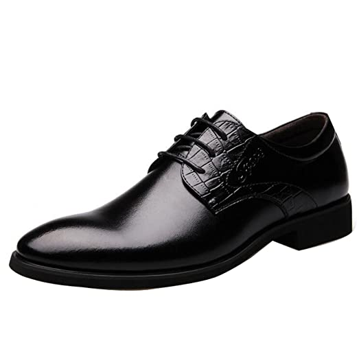 Men's Pointed Toe Lace Up Formal Oxfords Fashion Casual Dress Shoes