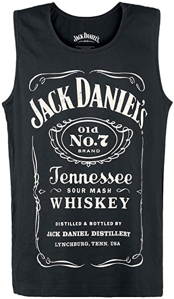 Jack Daniels Adult Male Old No.7 Brand Logo Tank Top | M | Black