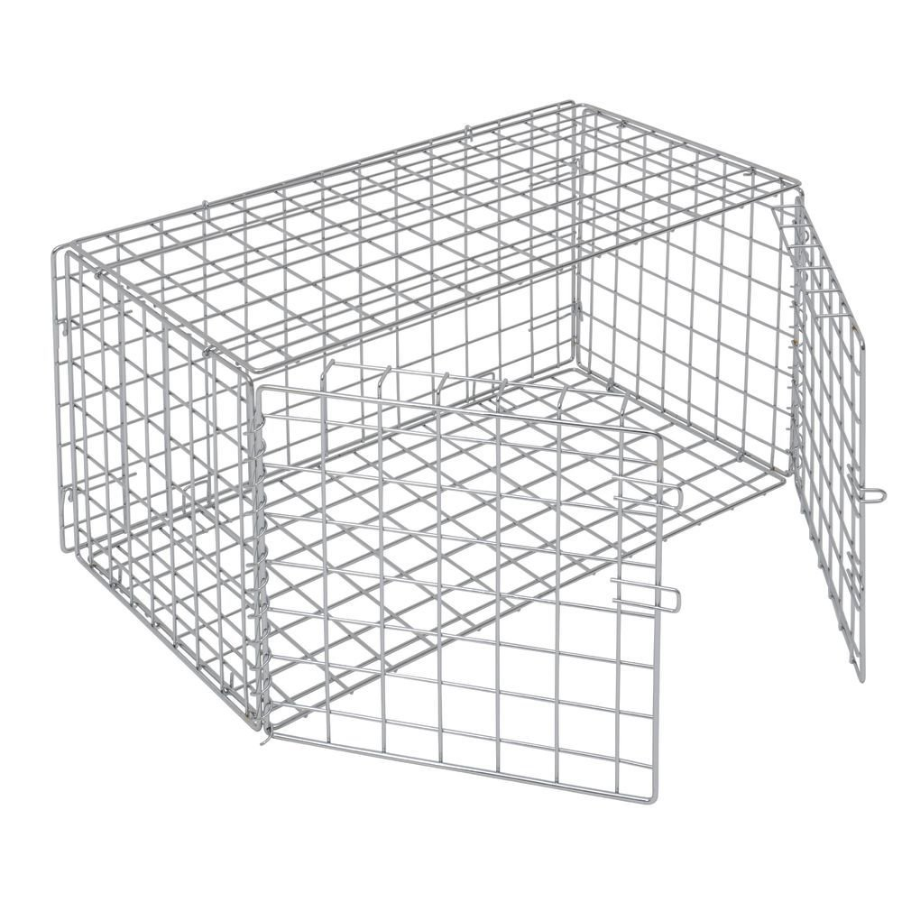 HUBERT Chrome Wire Lockable Security Cage - 18''L x 30''W x 15''H