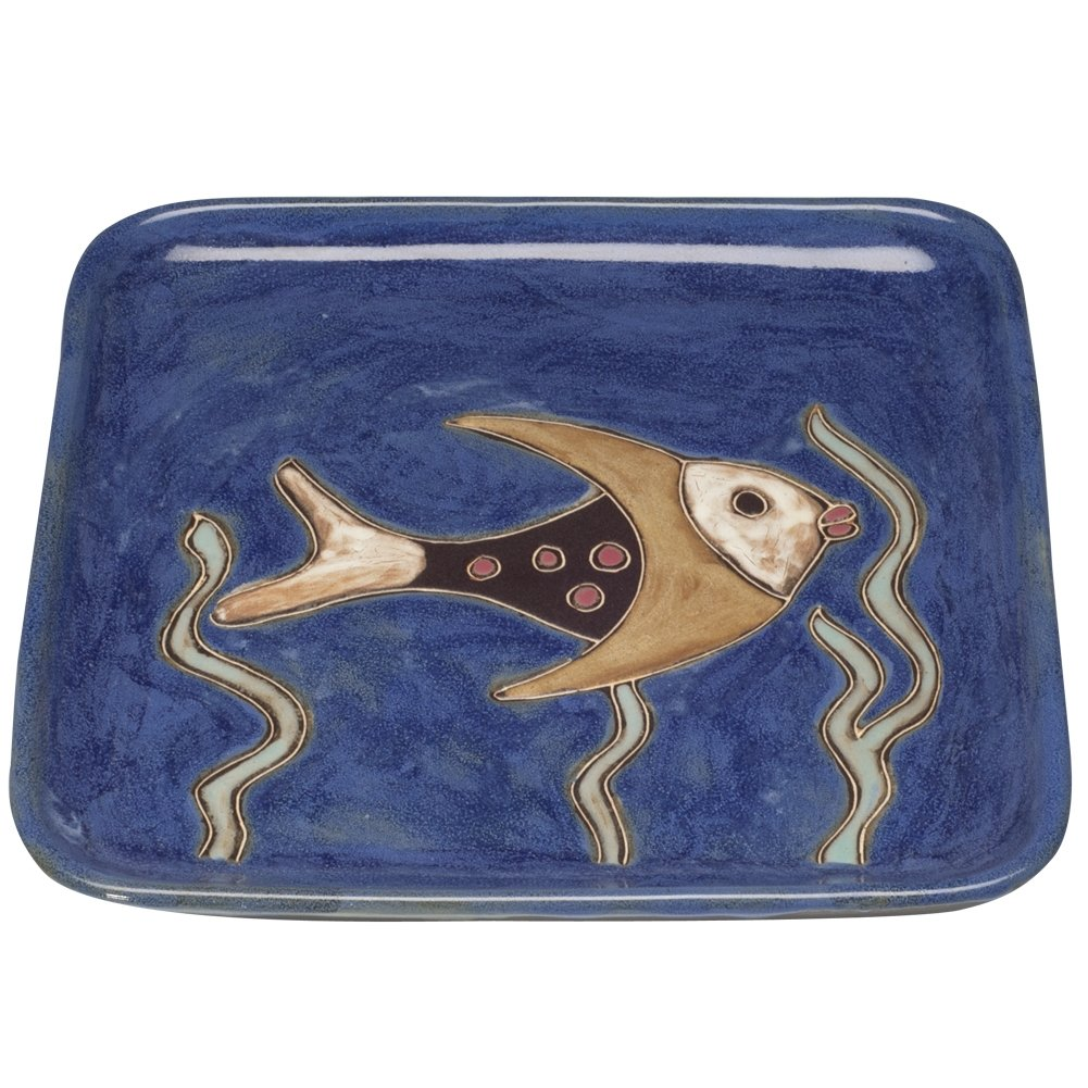 Animal World - Fish and Seaweed Square Dinner Plate