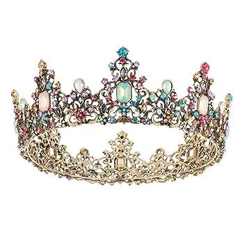 Amazon.com: SNOWH - Tiara de corona y corona de reina ...
