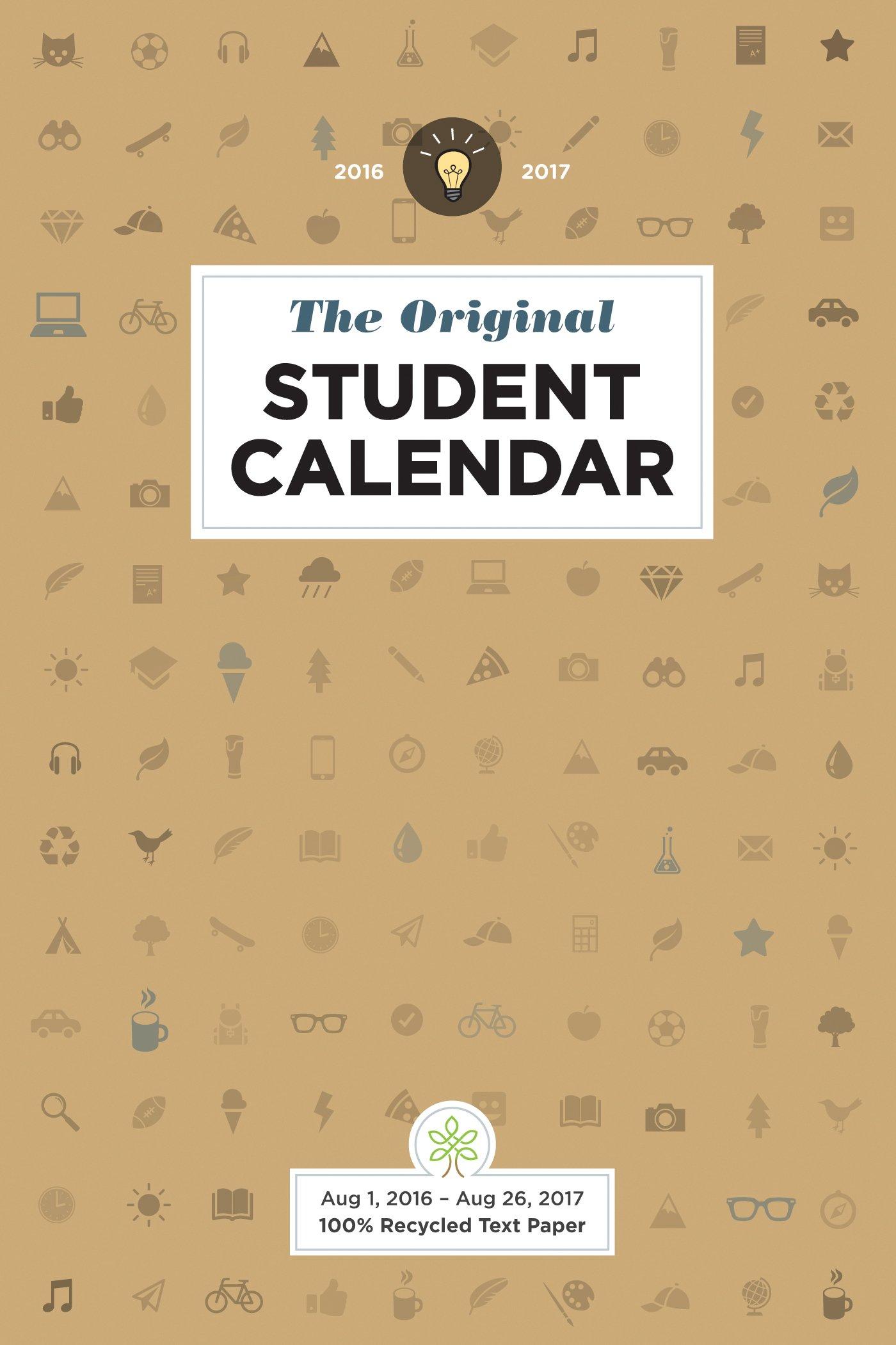 amazon com the original student calendar 2016 2017 9781551860992