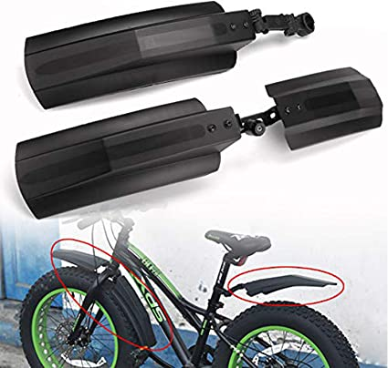 MTB Mountain Bike Bicycle Front Rear Fender Mudguard Tire Tyre Mud Guard Black