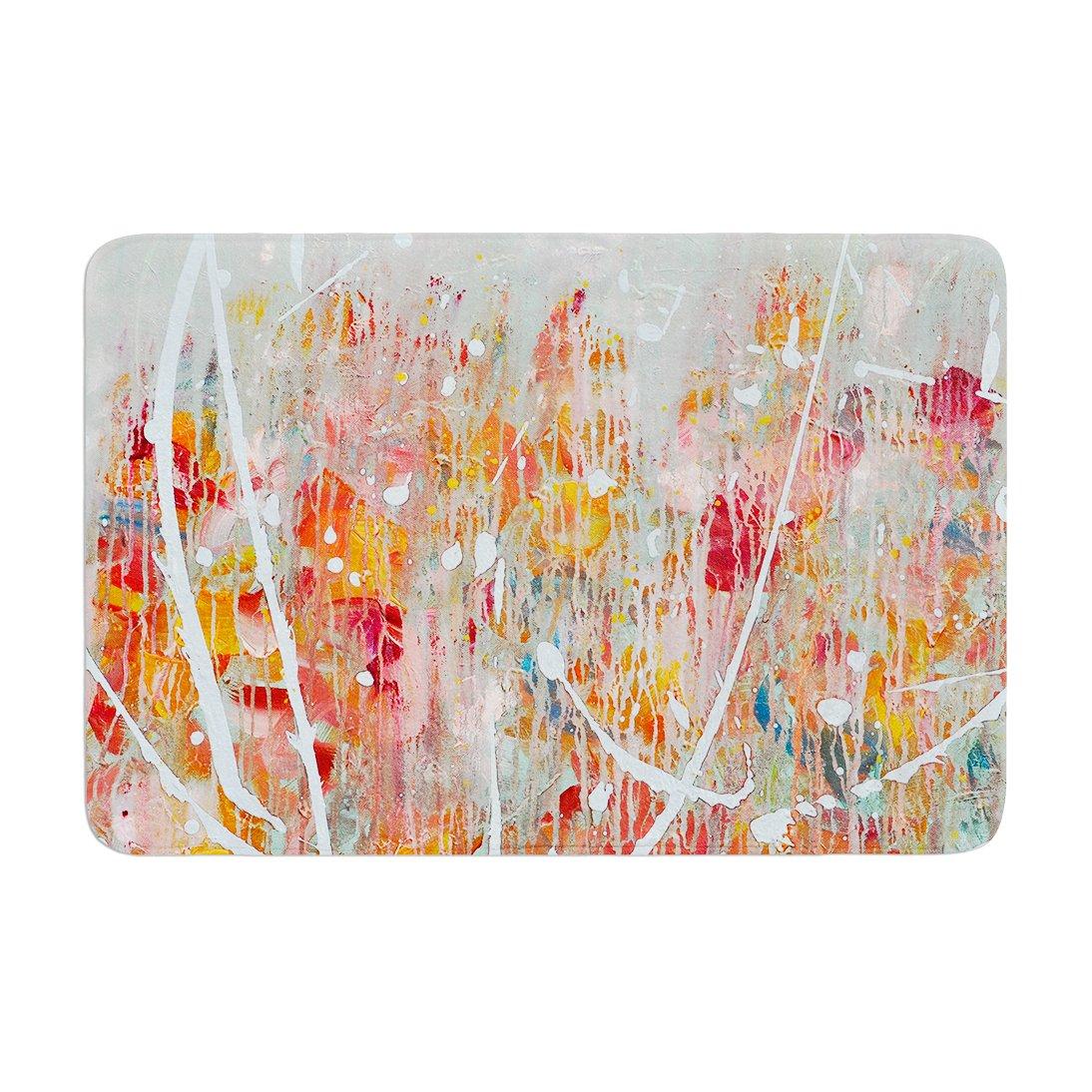 17 by 24 Kess InHouse Iris Lehnhardt Joy Splatter Paint Memory Foam Bath Mat