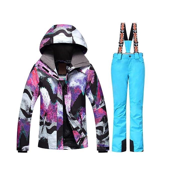c79b43fc4f GSOU Snow Women s Winter Ski Jacket Snowboard Waterproof Windproof Ski Suits   Amazon.ca  Clothing   Accessories
