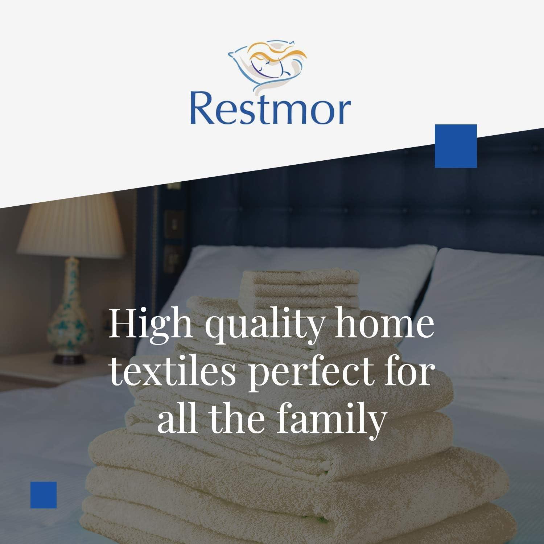 Restmor Knightsbridge Lot de 9 Serviettes 500g//m2 100/% Coton /égyptien Couleur Argent