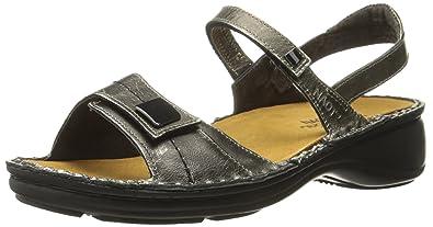 Naot Women's Papaya Wedge Sandal, Metal Leather, 35 EU/4.5-5 M