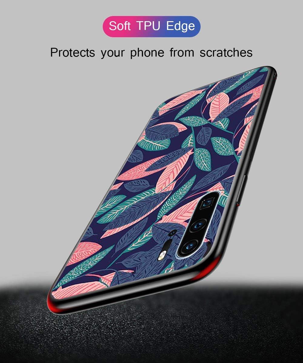 Dito medio AntiGraffii Vetro Temperato Cornice Antiurti Moda Modello Disegni Alsoar Cover per Huawei P30 Pro Cover Ultra Sottile Custodia Protettiva per Huawei P30 Pro,Morbido Silicone Bumper