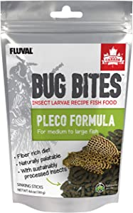 Fluval Bug Bites Bottom Feeder Fish Food, Sticks for Medium to Large Sized Fish, 4.59 oz., A6587