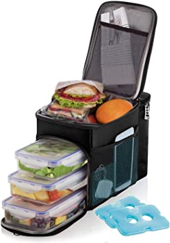 Versal Lunch Box for Men Insulated Cooler Lunch Bag