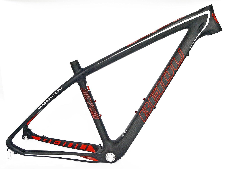 Amazon.com : BEIOU 17-Inch 3k Carbon Fiber Mountain Bike Frame 27.5 ...